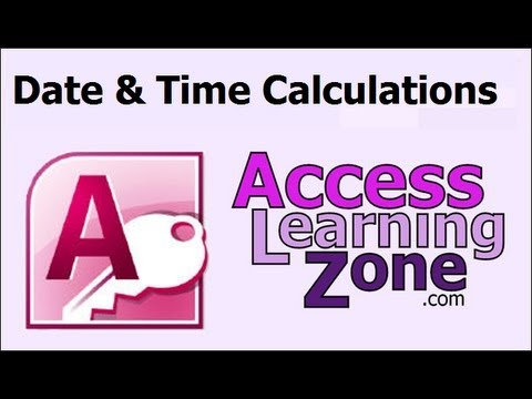 Microsoft Access Date & Time Calculations