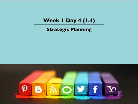 1. 4 Strategic Planning
