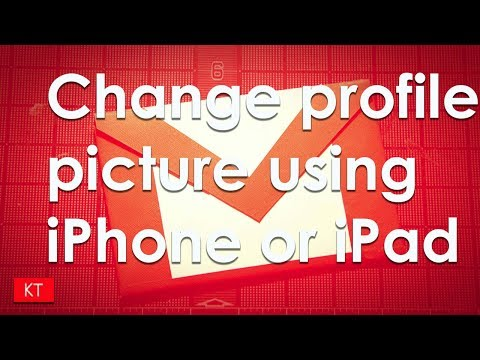How to change the gmail profile picture using iPhone or iPad