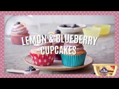 How to Make Easy Lemon & Blueberry Cupcakes