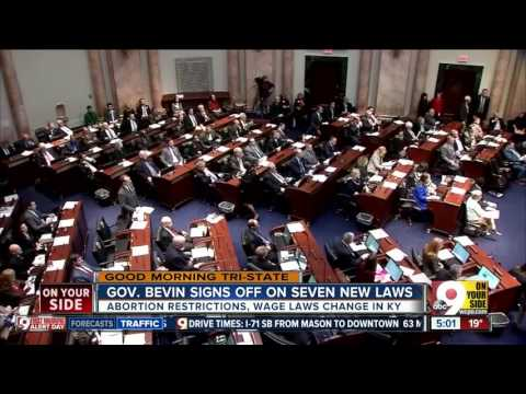 Gov. Bevin signs off on 7 new Kentucky laws