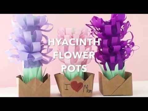PAPER TISSUE HYACINTH FLOWER POTS