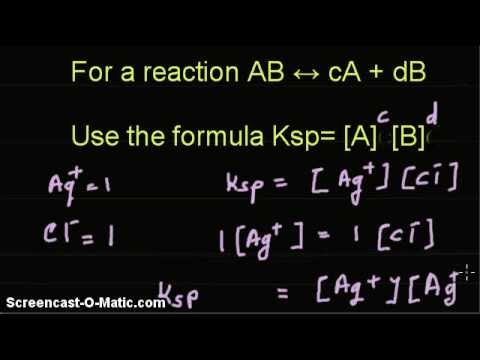 Video tutorial - Given solubility product, find the solubility of AgCl and BaF3