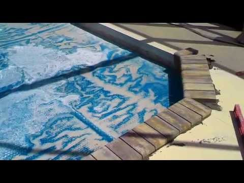Paver over a concrete pool deck