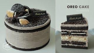 Download 3가지 맛 오레오가 숨어있는! 오레오 케이크 만들기 : Oreo Cake Recipe : オレオケーキ   Cooking tree Video