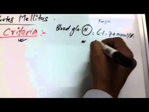 Diabetes Mellitus 4 of 6 (Diagnosis Criteria)