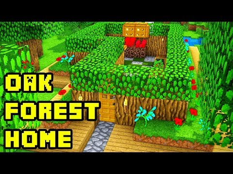 Easy Minecraft Oak Forest Survival Base/House Tutorial (How to Build)