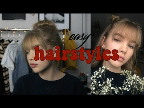 easy hairstyles (extra cute with bangs)