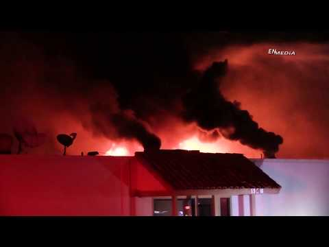 Corona: Three Alarm Commercial Structure Fire