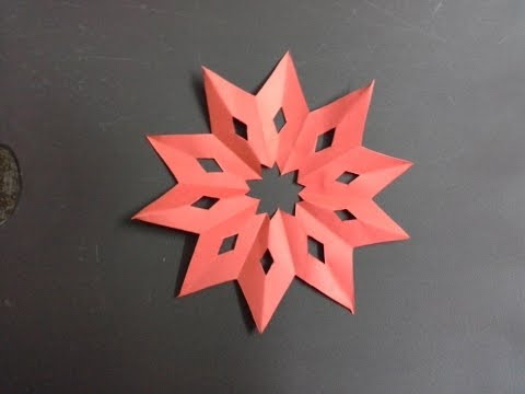 how to make a paper star out of 3 cuts (tutorial) paper crafts