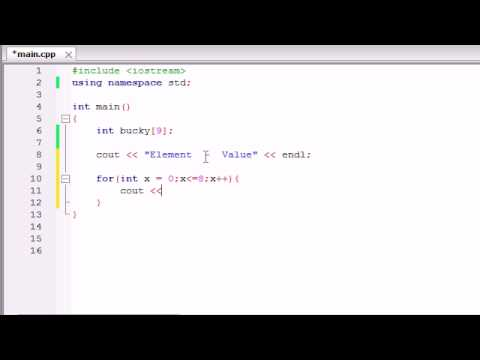 Buckys C++ Programming Tutorials - 33 - Create an Array Using Loops
