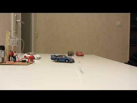 Toy cars moving with magnets