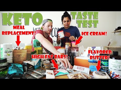 MASSIVE Keto Product Taste Test | Enlightened Ice Cream, Keto Chow, Lakanto Sweetener