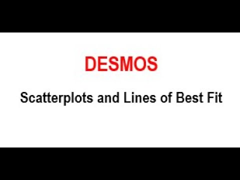 Desmos: Scatterplots and Lines of Best Fit Linear