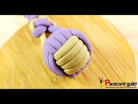 2 color monkey fist knot