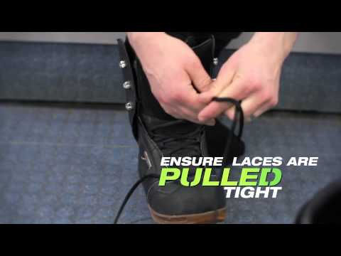 Putting on Snowboard Boots