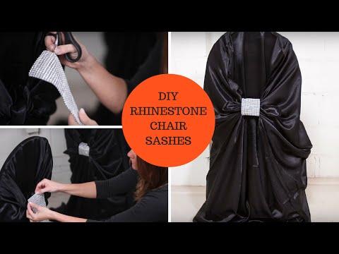 DIY Rhinestone Chair Sashes an Affordable DIY Wedding Project Tutorial