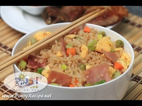 Ham and Egg Fried Rice Recipe by Filipino Recipes Portal