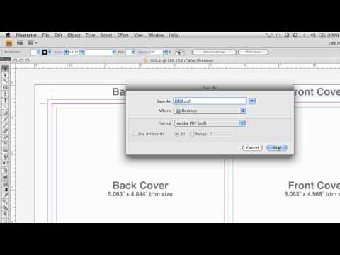 How to create a PDF from your layout file in Adobe Illustrator