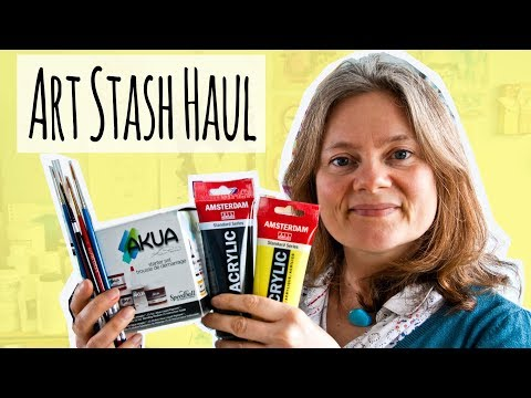 Art Stash Haul - Printing Inks, Brushes PLUS Is This The Best White pen?