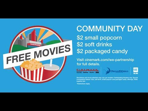 Cinemark Community Day is on 8/20/16!