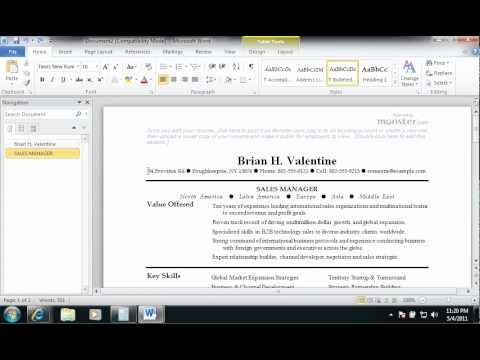 Douglass Resume 3b- Basics of Microsoft Word 2