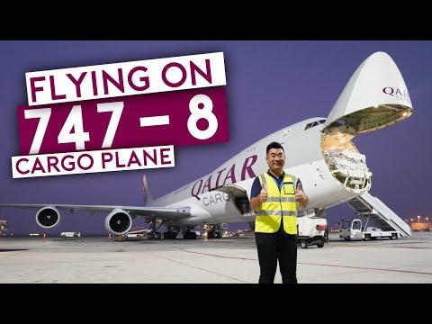 Flying on Qatar Airways B747-8 Cargo Plane