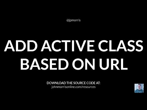 jQuery Tutorial: Add Active Class to Navigation Menu Item Based on URL