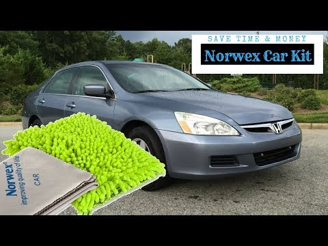 Wash your car in the rain - Norwex Car Wash Mitt and Car Cloth (Car Kit) In Action