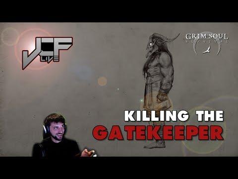 NEW BOSS, Killing the Gatekeeper in Grim Soul Dark Fantasy Survival (Live Event)