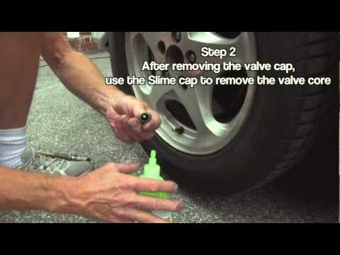How To Fix A Slow Tire Leak Using Slime