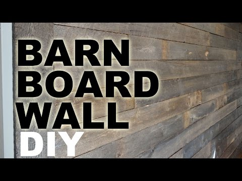 DIY Barn Board Feature Wall Tutorial