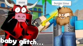 ARSENAL BUT IM SMALL... and new cow skin (Arsenal Roblox Glitch)