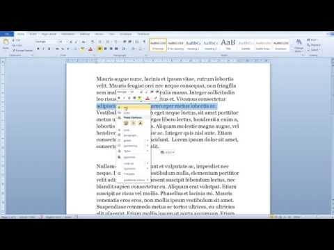 Word Tutorial for Beginners - All the different ways to select-copy-cut text in Word