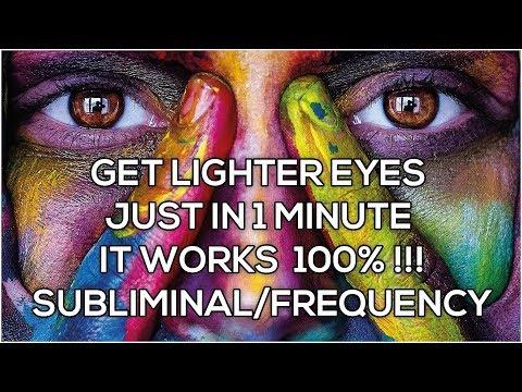 Loop/Repeat ~ WORKS Lighter eyes Fast 1 Minute! Subliminal Biokinesis Affirmations 528HZ Frequency