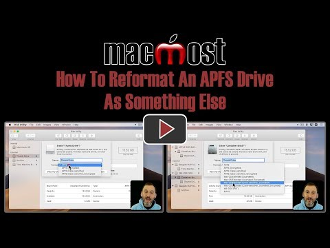 How To Reformat An APFS Drive As Something Else (MacMost #1835)