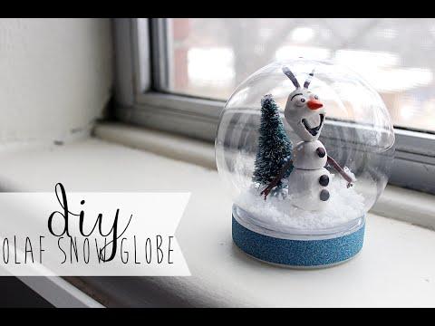 DIY Waterless Frozen Olaf Snowglobe