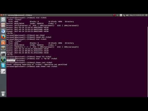 Change file and folder permission on ubuntu : chmod & chown command in linux