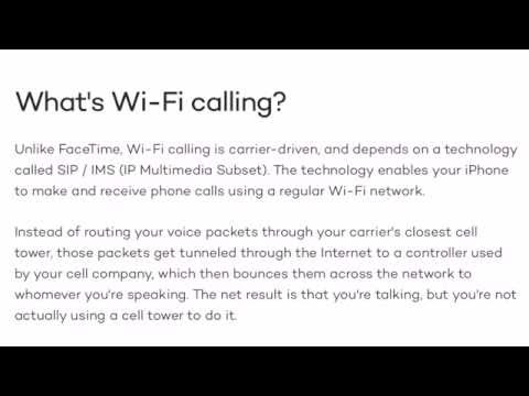 How to turn wifi-calling iPhone