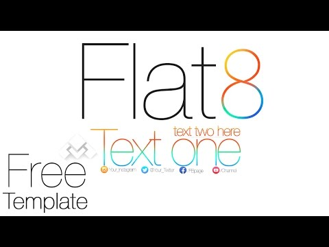 Flat 8| An iOS 8 inspired *Free channel Template*[.PSD]