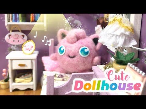 DIY Cute Toy Dollhouse Room - Miniature DIY with Pokémon Theme!