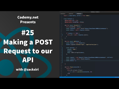 React: Making a POST Request to our API