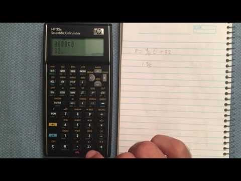 HP 35s Conversion Functions