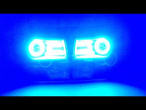 RetroShop.us - 2013+ F150 Headlights with LED Concepts Colormorph Halos