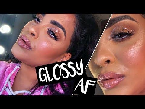 THE GLOSSY LID LOOK & LIPS MAKEUP TUTORIAL| NikkisSecretx