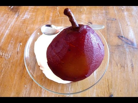 AWW #01: Poached pears with cream recipe