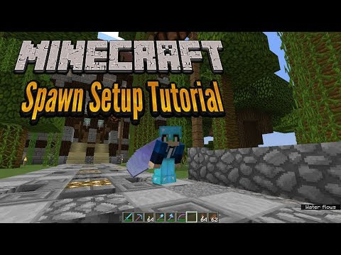 Minecraft 1.12 - Server Spawn Setup Tutorial - Vanilla Minecraft