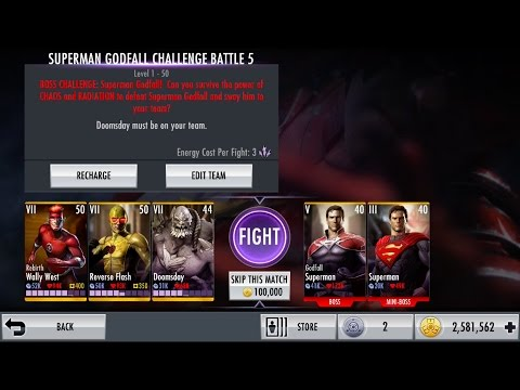 Injustice iOS Godfall Superman Challenge III Boss Fight