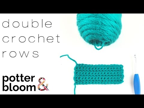 CROCHET SWATCHING + how to Double Crochet (dc) Straight Rows