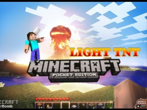 Minecraft Pocket Edition How to Light TNT in Creative 0.7.0
